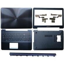 Laptop LCD Back Cover/Front bezel/Scharnieren/Scharnieren cover/Palmrest/Bottom Case Voor ASUS A555 x555 Y583 F555 K555 W509 F554 X554 R556