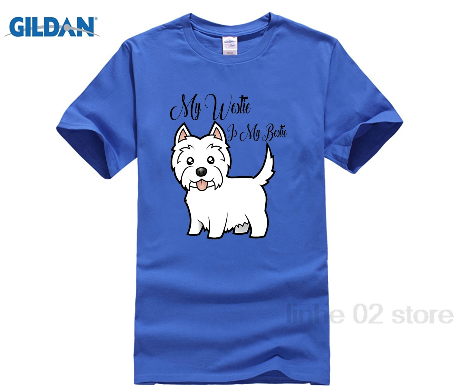 Mon Westie est mon Bestie-tee shirt blanc tee shirt homme