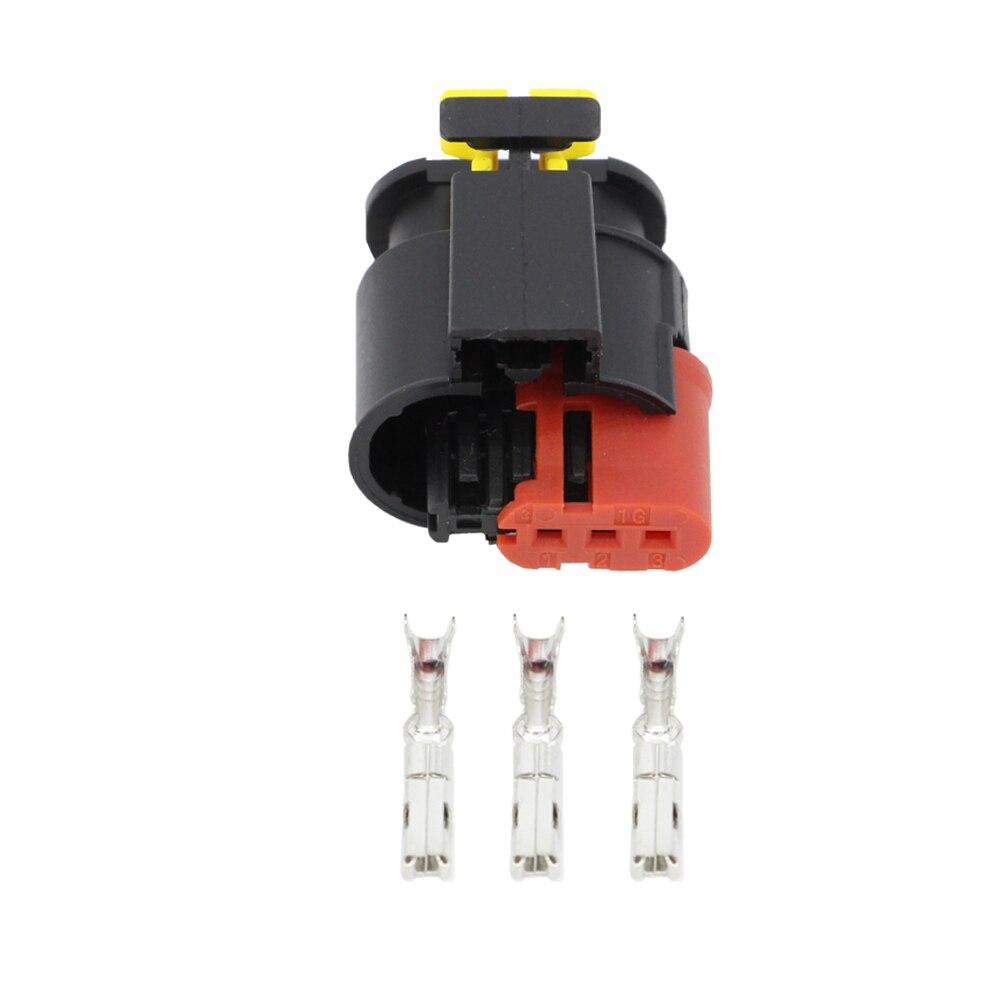 Conector automotivo impermeável da bobina de ignição do injetor do combustível/diesel do sensor selado do conector do fio de 3 pinos DJ7031C-1.5-21 ampères