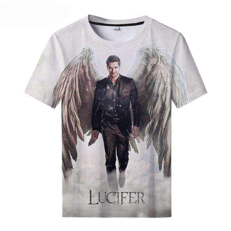2021 New Round Neck T-shirt Lucifer Season 5 3D Printed T-shirts Cool Men and Women Unisex  Oversized t-shirt