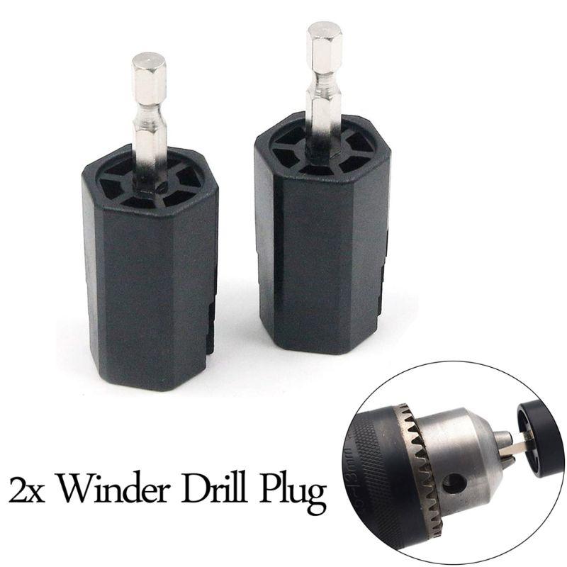 Schwarz String Wickler Tuning Peg Puller Elektrische Bohrer für Gitarre Bass Reparatur Tool Kit
