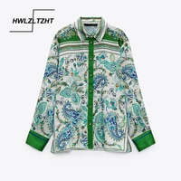 HWLZLTZHT Women Blouse Top 2021 Summer Lapel Long Sleeve Shirt Casual Buttons Women Clothing Female Shirts Blusas Chic Tops