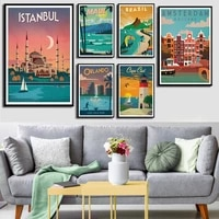 city landscape canvas art painting poster and prints new york netherlands amsterdam london travel posters for living room