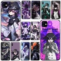 danganronpa v3 amine phone case for iphone 11 12 pro xs max 8 7 6 6s plus x 5s se 2020 xr soft silicone cover shell funda