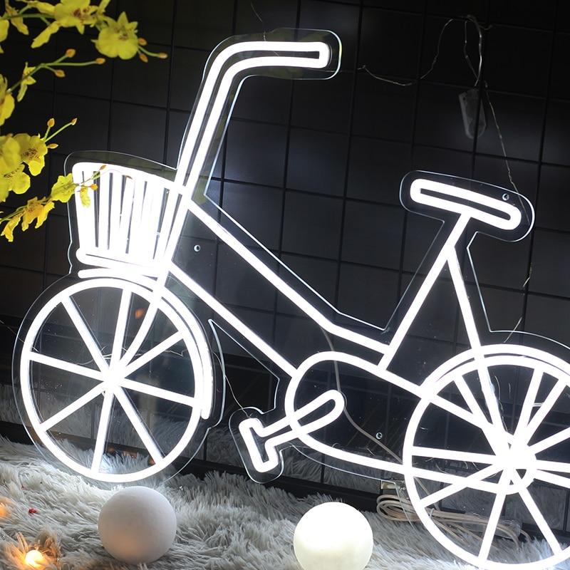 Neon sign Custom Waterproof Flex Neon Visual Art Bar Pub Club Acrylic Wall Hanging Flexible Sign decoration Bike shape neon