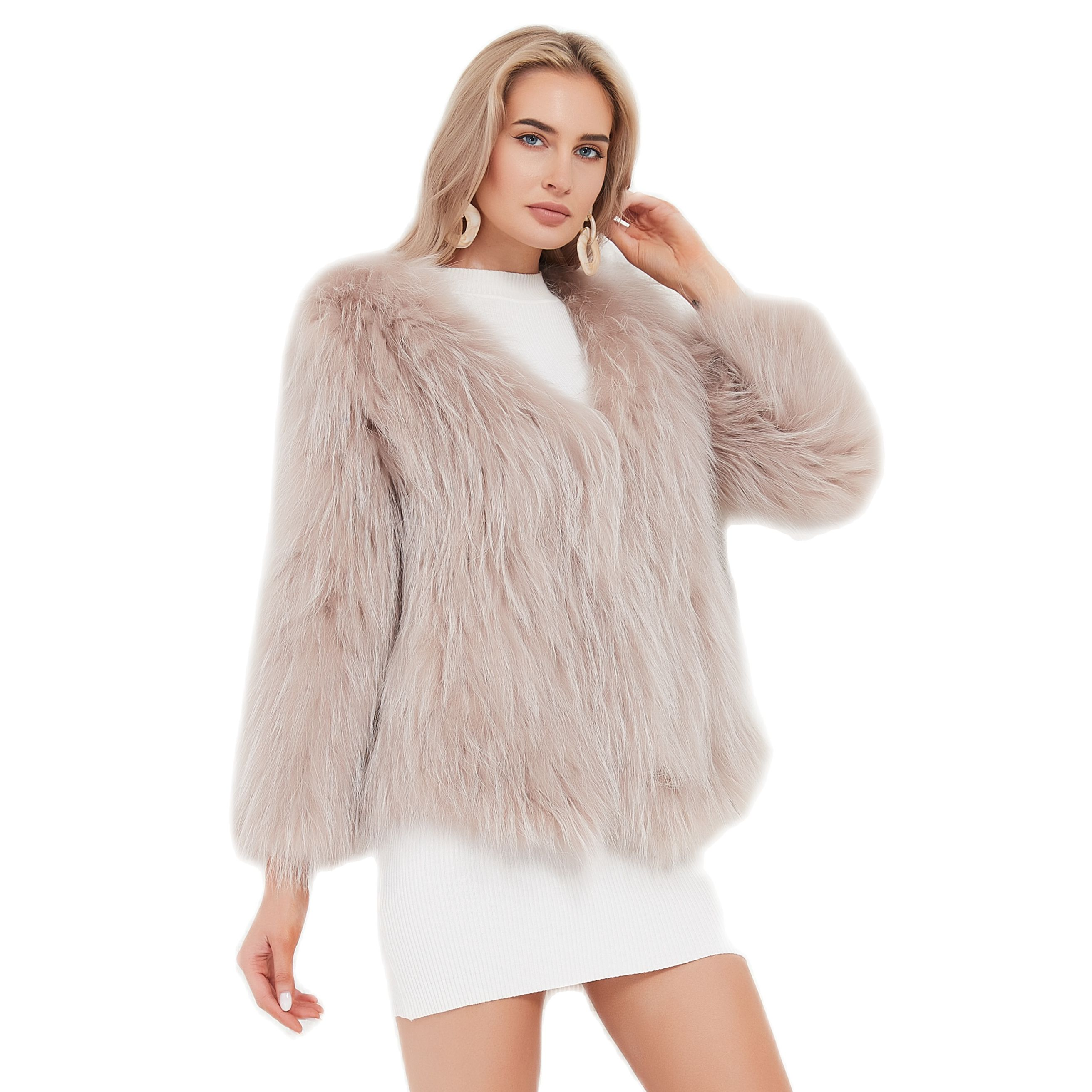 Pudi المرأة ريال الراكون الفراء متماسكة معطف العلامة التجارية الجديدة الفتاة الشتاء الدافئة معاطف جاكيتات سترة حجم كبير أسود وردي CT122
