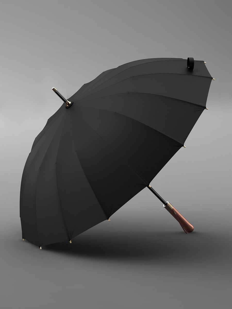 Business Long Handle Umbrella Waterproof Double Layer Gray Umbrella Windproof Large for Men Parapluie Household Products EI50UA enlarge