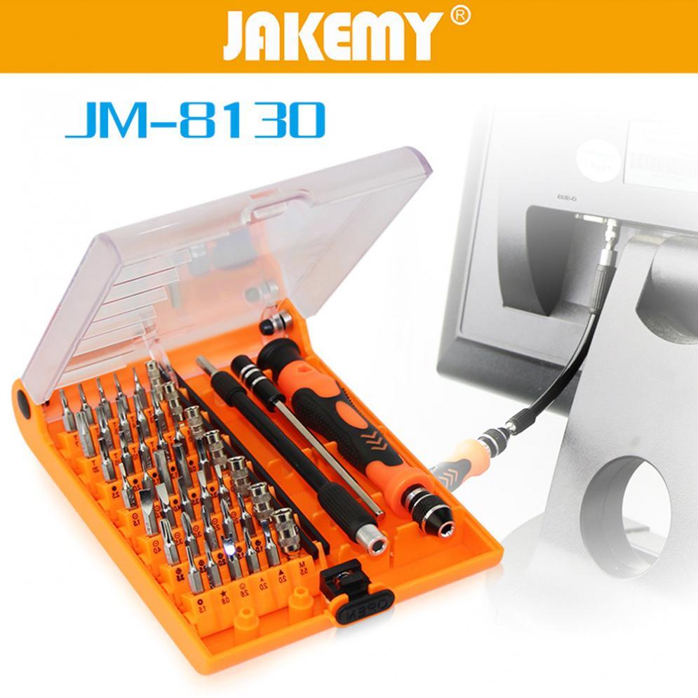 Jakemy JM-8130 сменный Магнитный прецизионный 45в1 отвертка набор ремонтных инструментов подходит для iPhone/iPad/PC JAKEMY JM-8130 отвертка jakemy jm 8177 106in1