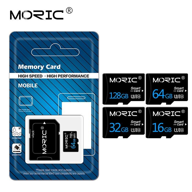 Newest Moric Class 10  Micro SD 64GB 32GB  Memory card 16GB 8GB  sd card mini TF Cards 256GB 128GB m
