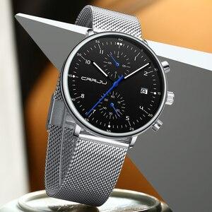 Топ бренд crrju Роскошные Мужские Бизнес часы модные кварцевые мужские водонепроницаемые часы спортивные мужские наручные часы Relogio Masculino