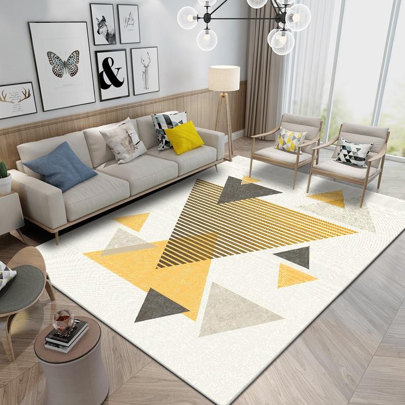 سجادة إسكندنافية سميكة حديثة لغرفة المعيشة ، ديكور غرفة النوم ، أريكة منزلية ، طاولة قهوة ، سجادة أرضية لغرفة الدراسة