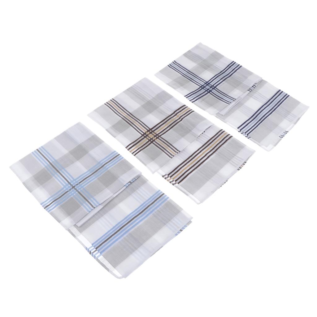 Pañuelos cuadrados de 3 piezas para fiesta de boda Hankerchief