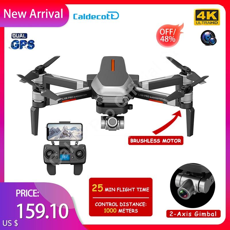 Brinquedo de Distância Drone Câmera Dupla 2-axis Cardan Brushless Motor Profissional Dobrável Quadcopter 1000m rc L109pro Gps 4k hd