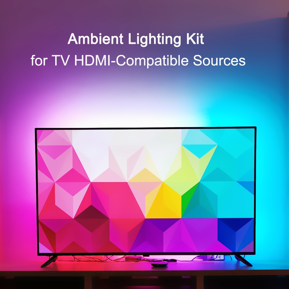 Ambient Light TV Kit for TV HDMI-compatible Devices Dream Screen 4K TV HDTV PC Backlight Background Lighting WS2812B LED Strip