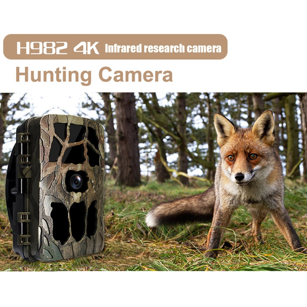 4K Hunting Camera Trap 20MP Infrared Hunt Night Vision Support 256GB Wildlife Photo-trap Hunting Trail Photo Camera Foto Chasse