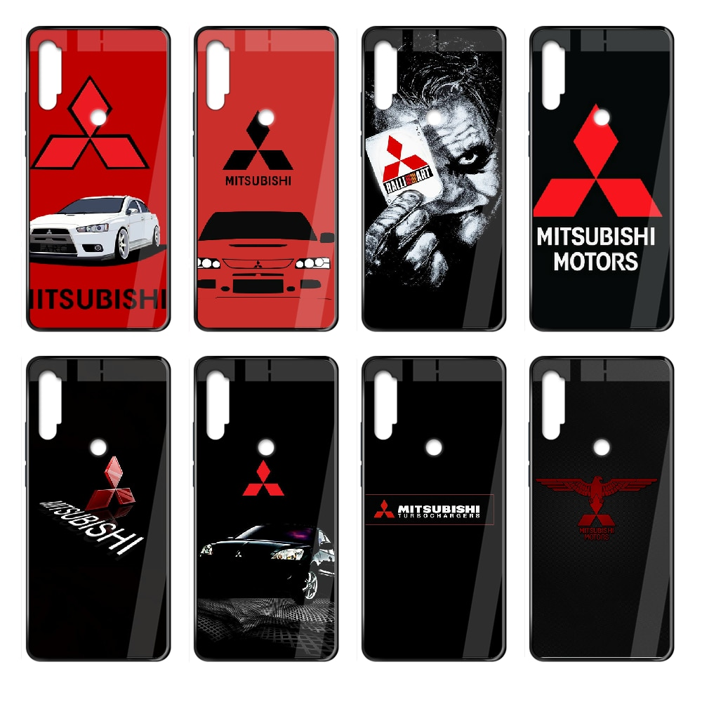 Mitsubishi car logo Phone case cover hull For Xiaomi Redmi Note S2 4 5 6 7 8 K20 A S X Plus Pro blac