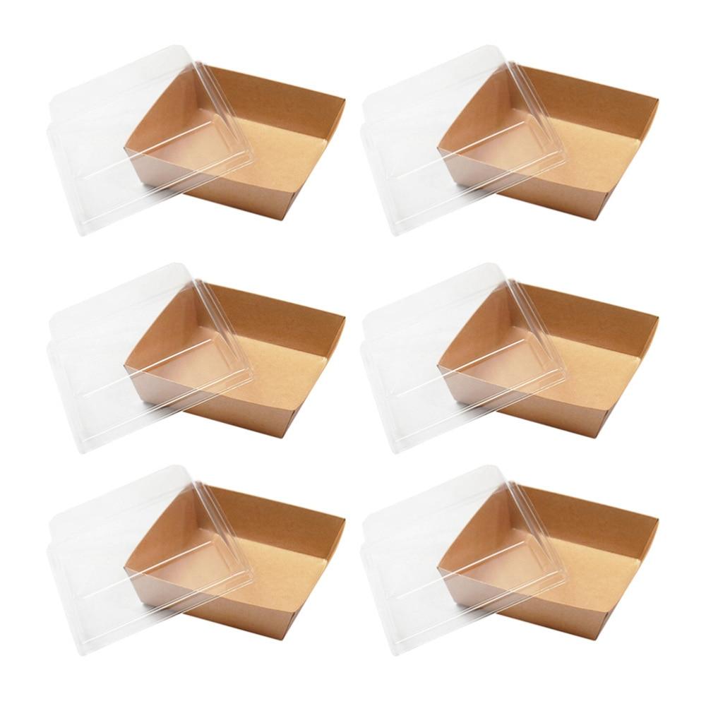 50 قطعة علبة للكيك من ورق كرافت علبة التعبئة والتغليف شطيرة حاويات صناديق الطعام حزب الحسنات