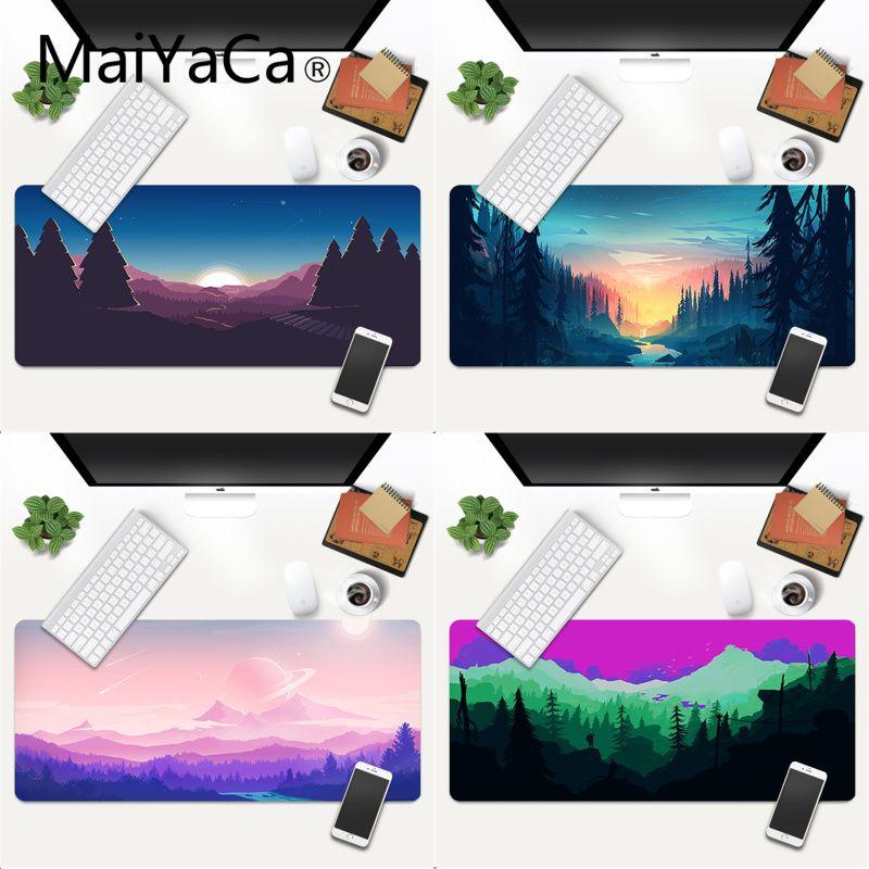 Красивый коврик для мыши с аниме глубоким лесом MaiYaCa, игровые коврики, игровой коврик для мыши xl xxl 700x300 мм для dota2 cs go