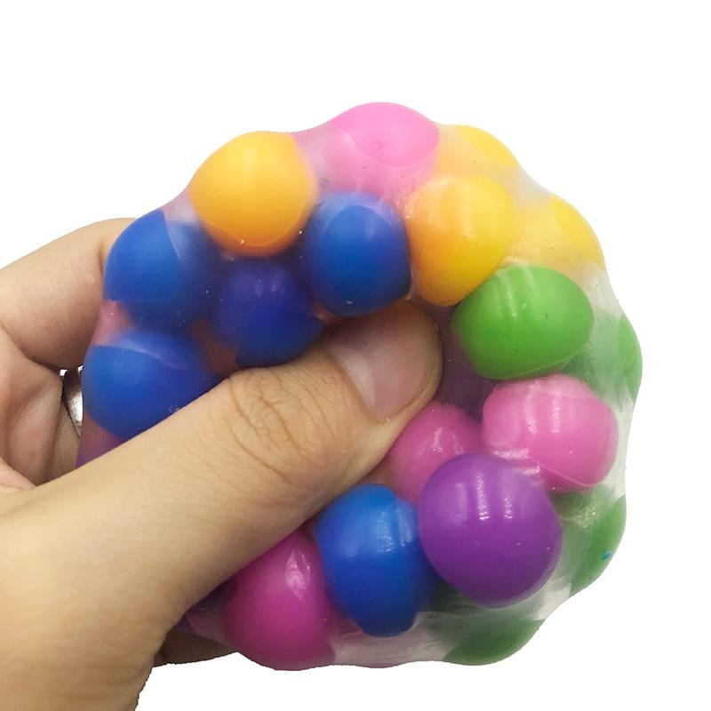 לסחוט כדור צעצוע DNA צבעוני חרוזים להקל על לחץ יד תרגיל כלי לילדים/מבוגרים אקראי צבע