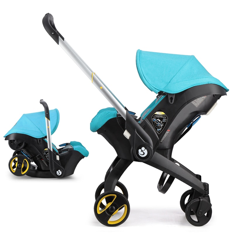 Luxury Baby Stroller 4 in 1 Trolley Newborn Baby Car Seat Stroller Travel Pram Stoller Baby Bassinet Pushchair Carriage Basket