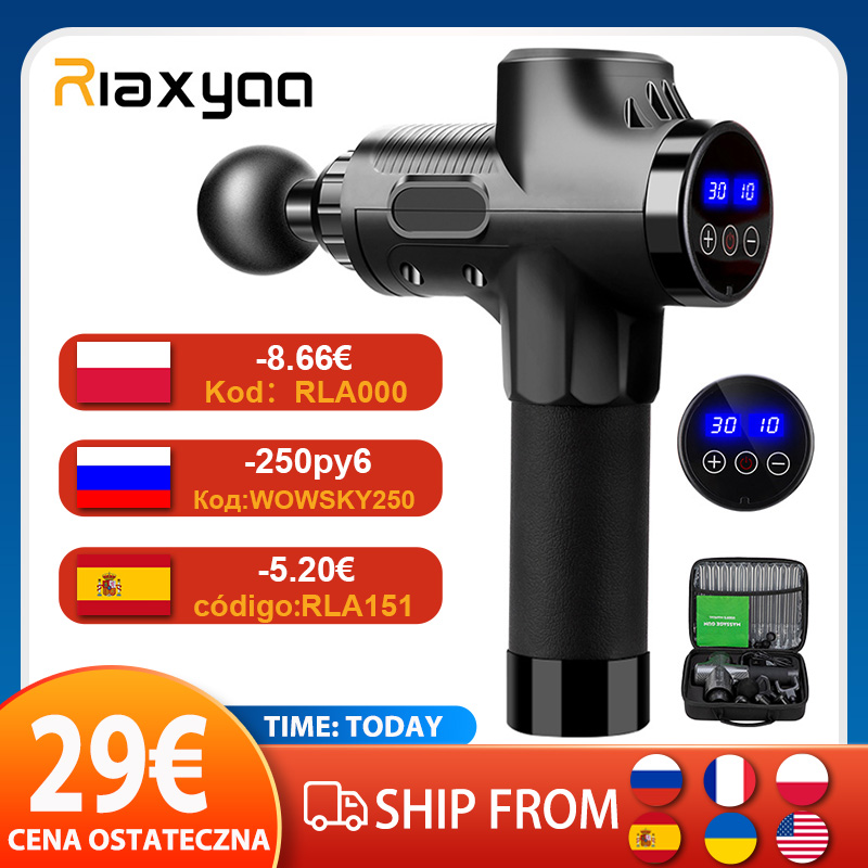 High frequency Massage Gun Muscle Relax Body Relaxation Electric Massager with Portable Bag Therapy Gun for fitness