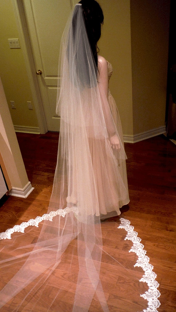 Nuevo velo de novia de encaje de 2 niveles velo largo para novia 3 M accesorios de novia con peine de Metal