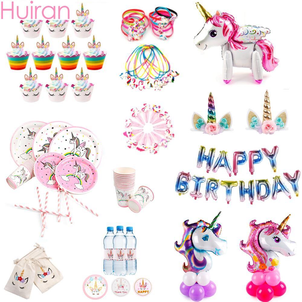 Pin el cuerno en el juego de fiesta de unicornio niños fiesta de cumpleaños decoración de unicornios fiesta festiva suministros unicornio Decoración de cumpleaños