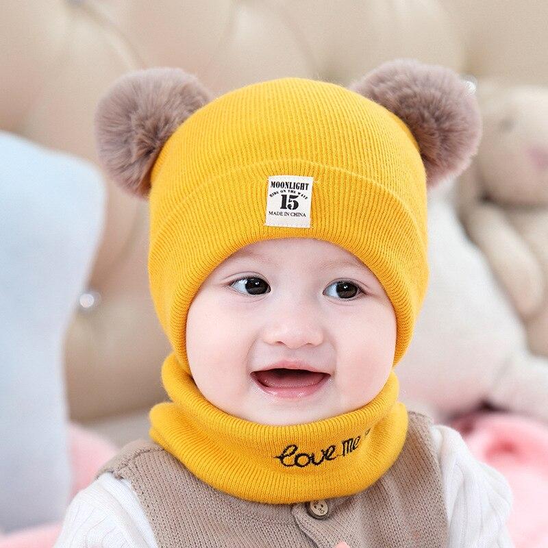 Осенне-зимние детские вязаные шапки детские шерстяные шапки Мультяшные головные уборы для мальчиков и девочек Теплые шапки