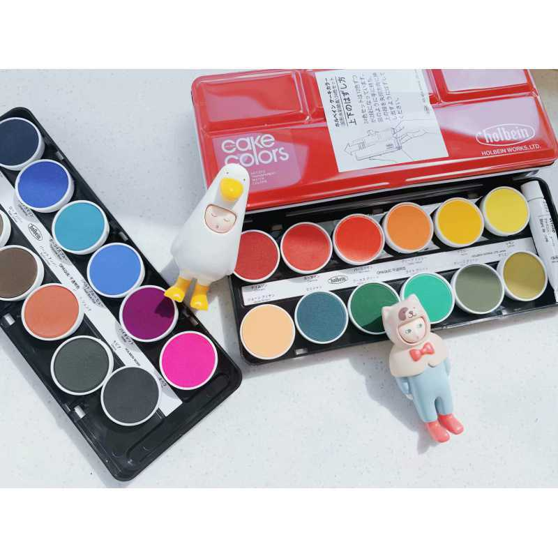 2021 New Transparent Cake Pan 24 Colors Opaque Solid Watercolor Powder Paint Art Supplies for Artist  Painting  CN(Origin)