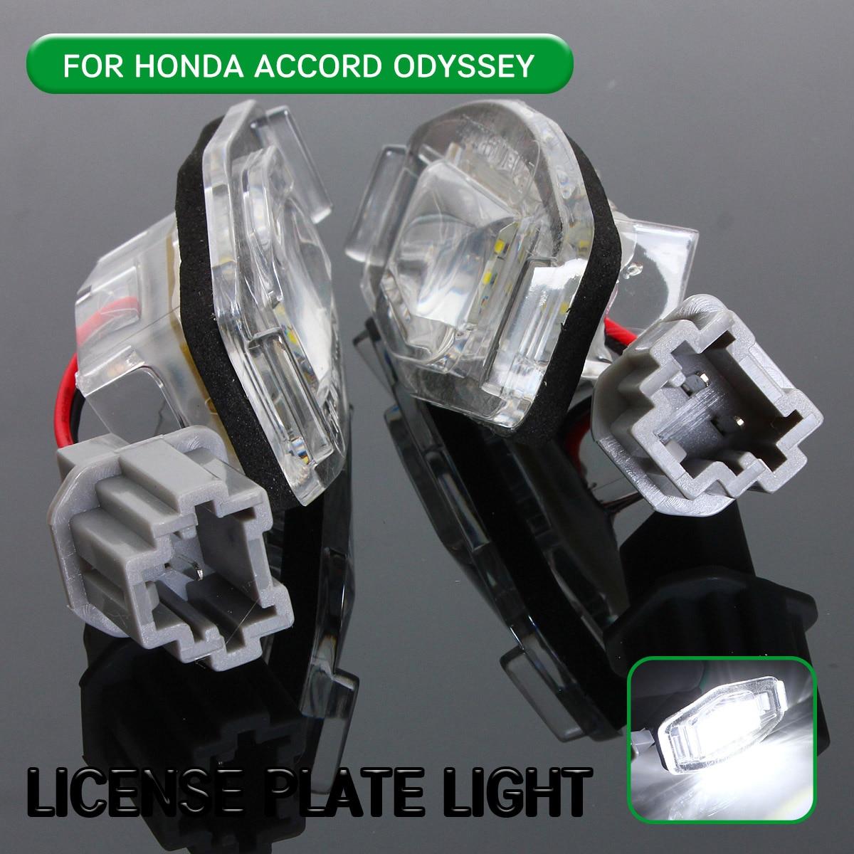 2pc LED Lizenz Nummer Platte Licht Lampe Für Honda Accord Odyssey Civic Limousine Stadt Acura MDX TSX ILX RDX RL TL