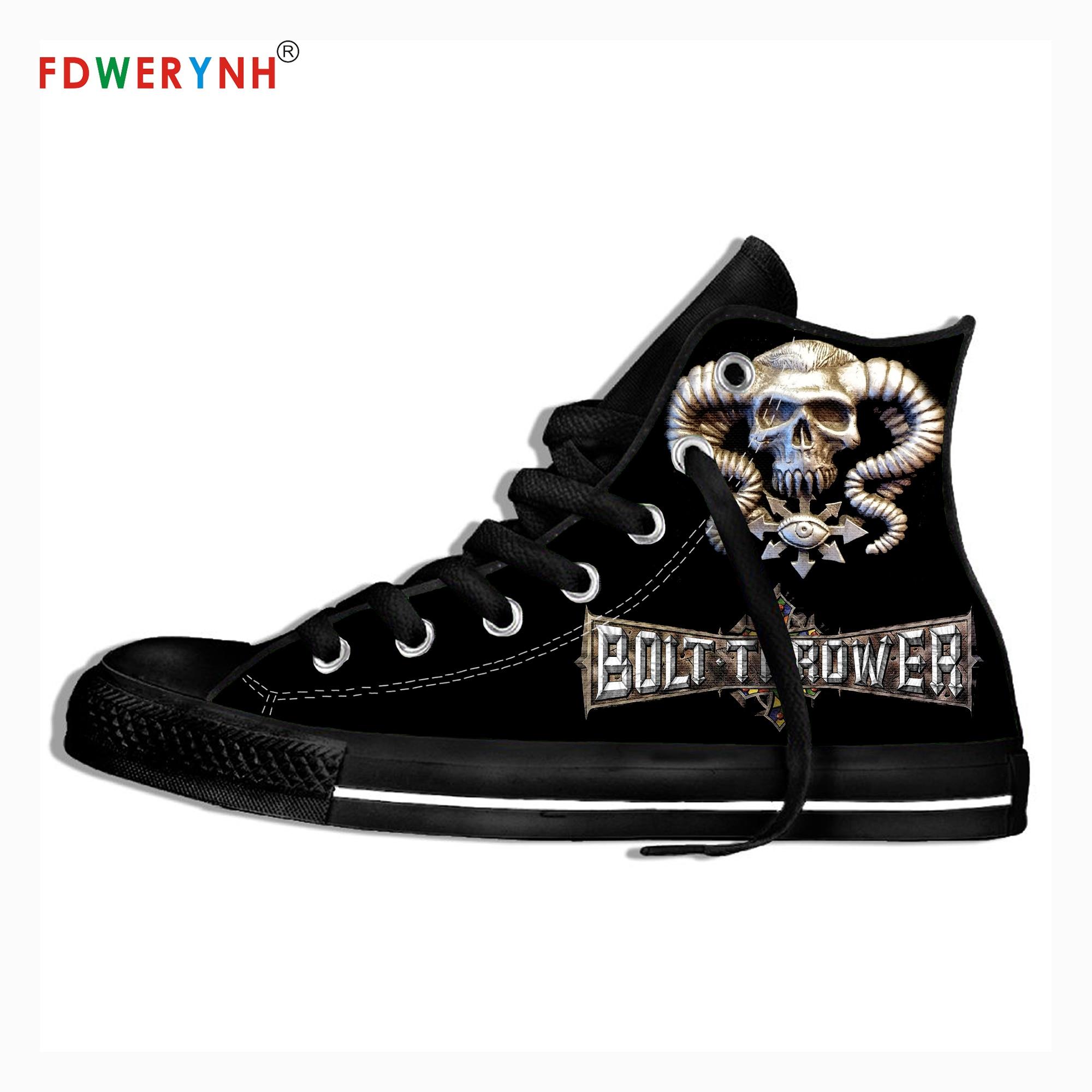 Zapatos informales para hombre, Bolt Thrower ventiladores de música, logotipo de banda de Metal pesado, zapatos personalizados, zapatos informales de lona con encaje ligero y transpirable