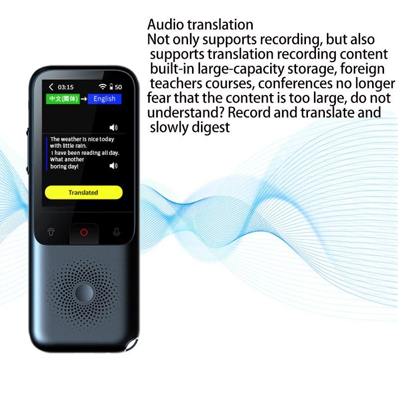 T11 ligent Voice Translator Simultaneous Online Translation 138 Languages WIFI Translator enlarge