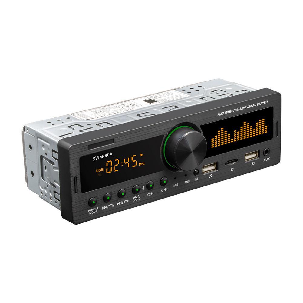 New Bluetooth Autoradio Car Stereo Radio FM Aux Input Receiver SD USB 12V In-dash 1 Din Car MP3 Multimedia Player With GPS car auto tape 4 60 w bluetooth usb sd aux car radio stereo player digital bluetooth car mp3 player 60 wx4 fm radio stereo