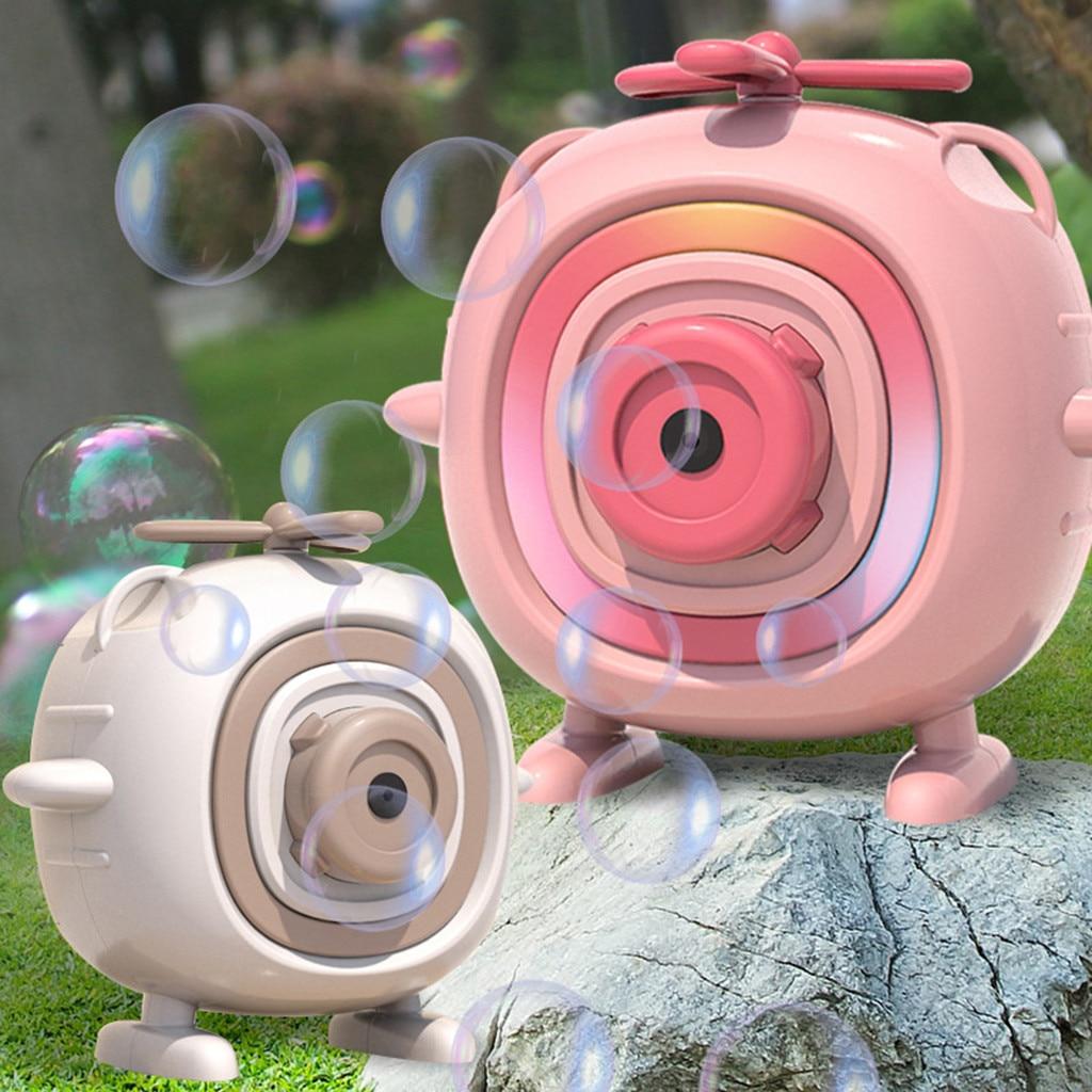 Автоматическая забавная мультяшная детская машина для изготовления пузырей, машина для ванной, игрушки для малышей