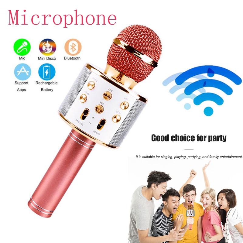 Micrófono de karaoke inalámbrico con Bluetooth, Micro micrófono de graves 3D PARA...