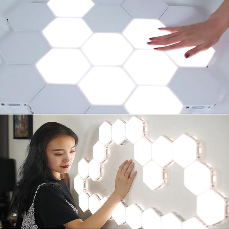 5PCS Touch Sensitive Lighting Lamp Hexagonal Lamps Quantum Lamp Modular LED Night Light Hexagons Creative Decoration Lamp enlarge