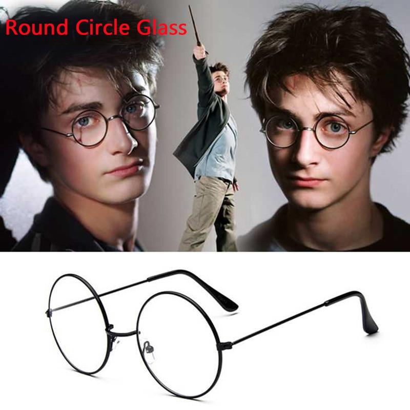 Glasses Transparent Eyewear Eyeglasses Black Oversized Round Circle Eye Glasses Original Clear Lens Men Reading Glasses
