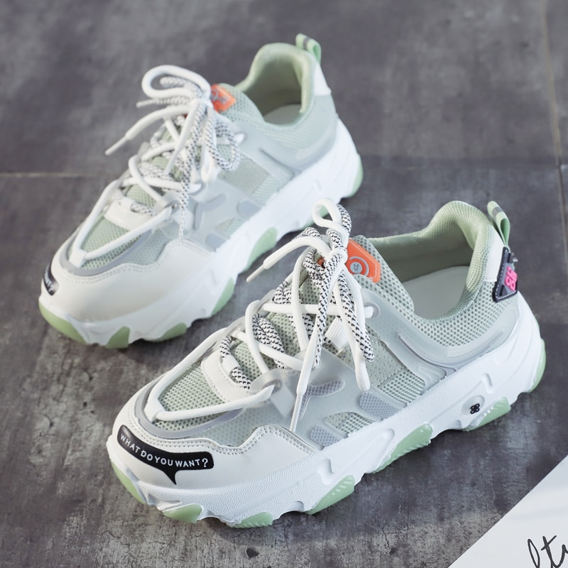 Women Casual Shoes Light Student Shoes Women Fashion Sneakers Breathable Walking Shoes Women Vulcanize Shoes Thick Bottom Shoes