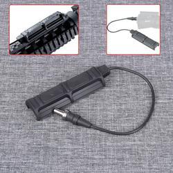 Arma tática luz interruptor remoto duplo para surefir m300/m600/m952 apto 20mm ferroviário interruptor da cauda para caça lanterna acessórios