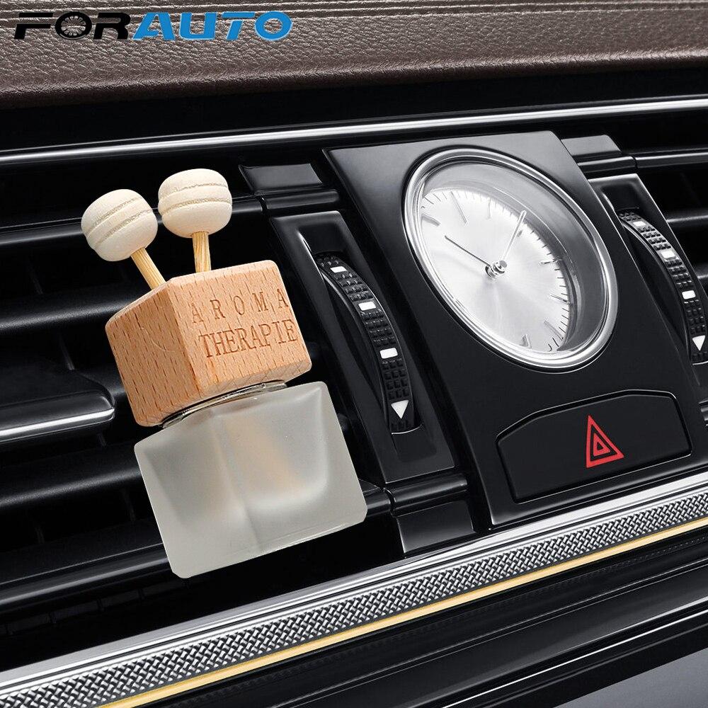 FORAUTO désodorisant ornement parfum bouteille pendentif huiles essentielles Auto voiture parfum bouteille suspendus verre bouteille voiture-style