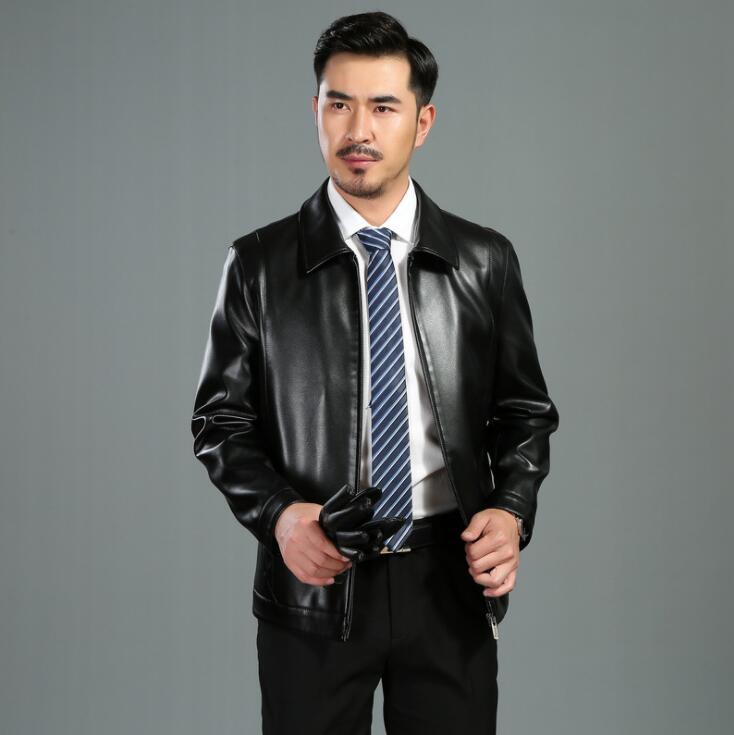 Chaqueta de cuero de otoño para hombre, chaqueta ajustada para hombre, abrigo para motocicleta, chaquetas para hombre, ropa informal de negocios, chaqueta de calle a la moda