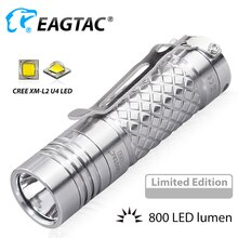 EAGTAC D3C Ti XM-L2 U4 LED Flashlight Super Bright 800LM EDC Mini Torch 16340 CR123A Limited Edition