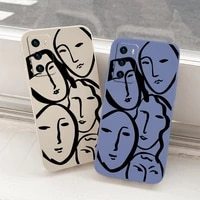 stick figure silicone case for huawei p40 p30 p20 pro lite mate 40 30 20 pro lite p smart 2021 y7a shockproof soft phone cover