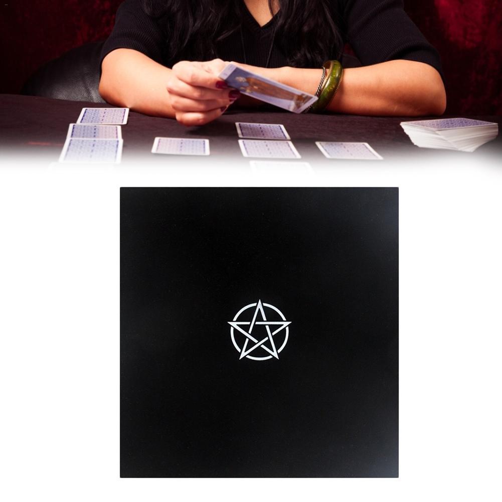 Черный алтарь Таро карты сумка вечерние скатерти пентаграмма ретро скатерть для Divination Wicca черная ткань