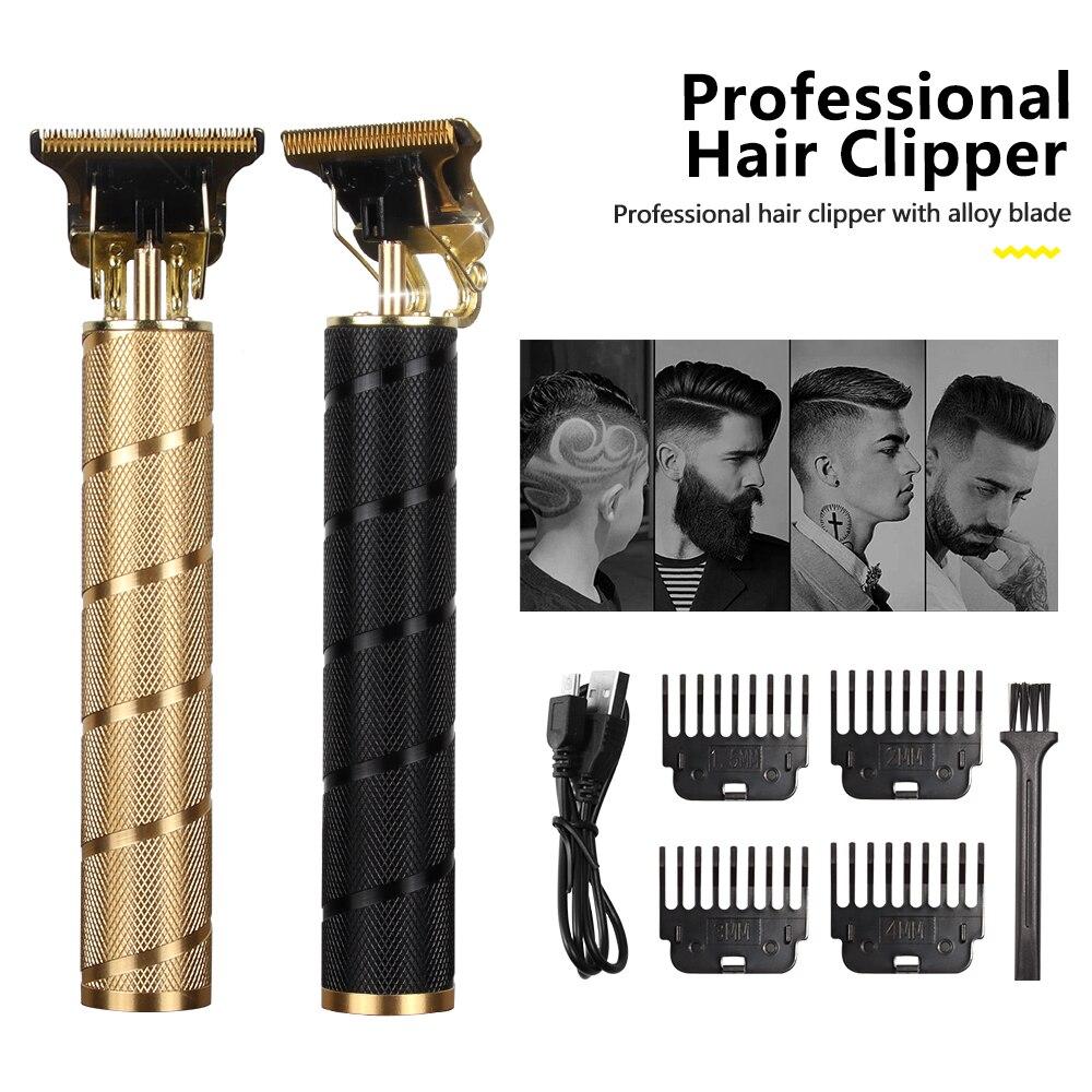 USB T9 مقص الشعر المهنية الكهربائية الشعر المتقلب الحلاق الحلاقة المتقلب اللحية 0 مللي متر الرجال آلة قص الشعر للرجال اللاسلكي