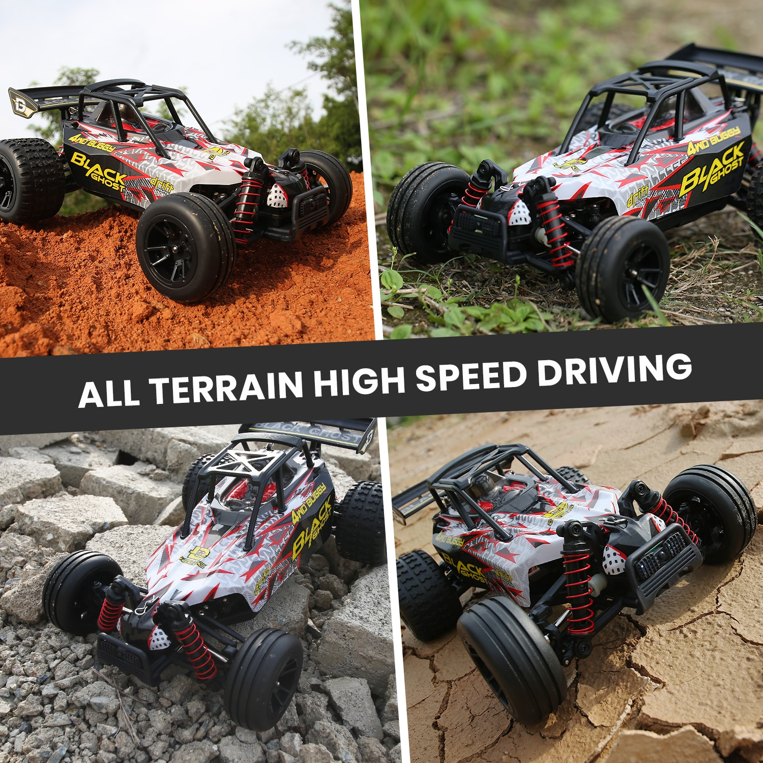 DEERC 9305E RC Cars High Speed Remote Control Car for Adults Kids Boys,1:18 Scale 25+ MPH 4WD All Terrain Off Road Monster Truck enlarge