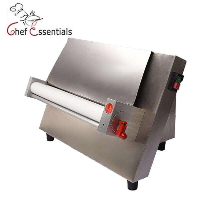 Máquina de laminación de base de masa de pan de pizza CHEF ESSENTIALS 370w prensador de masa de acero inoxidable 100-480m masa de pizza adecuada para ho