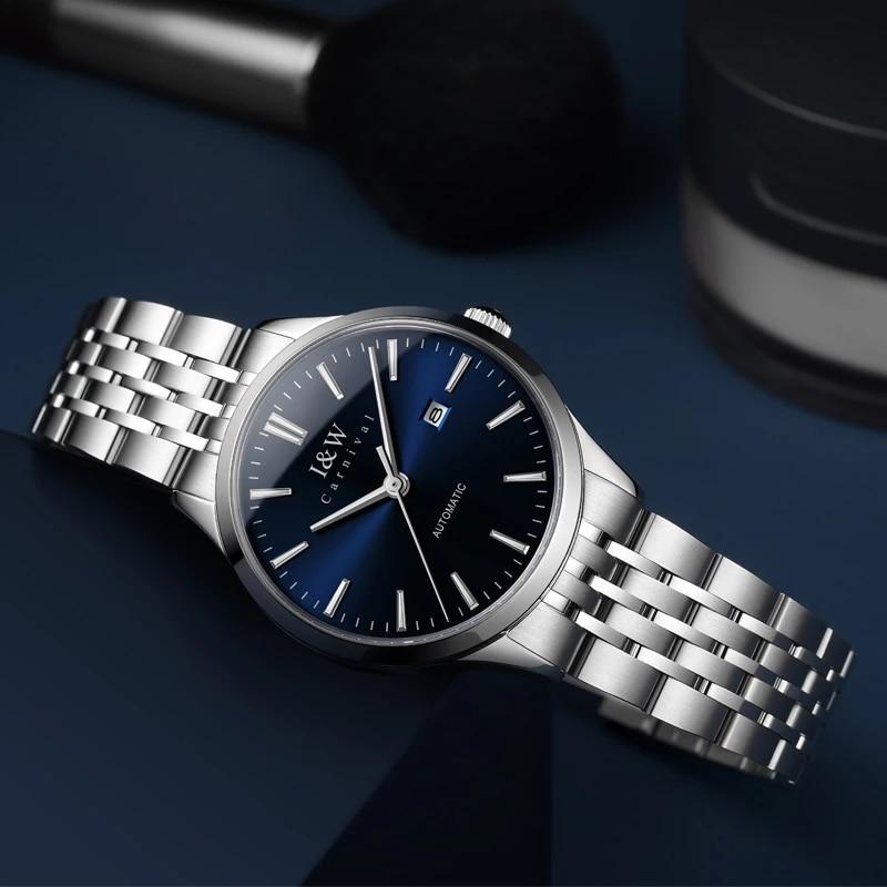 CARNIVAL Brand Luxury Women Mechanical Watches Ladies Fashion Waterproof Sapphire Calendar Automatic Wristwatch Relogio Feminino enlarge