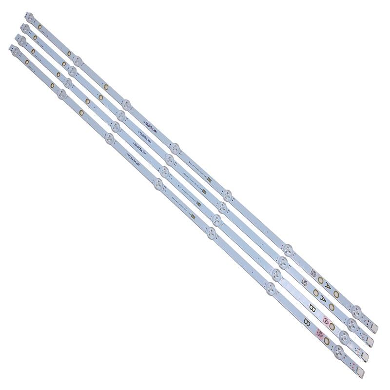 New 4 PCS/set 7LED 805mm LED backlight strip for Vestel 17DB43H P43d300 LB43007 17DLB43VLXR1 VES430UNDL-2D-N12 VES430UNDA-2D-N12