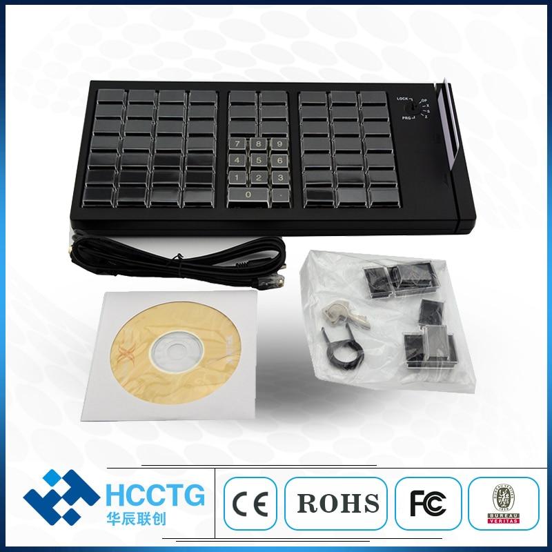 Usb com fio mini 66 chaves profissional pos cash register switch teclado programável com leitor de cartão magnético kb66